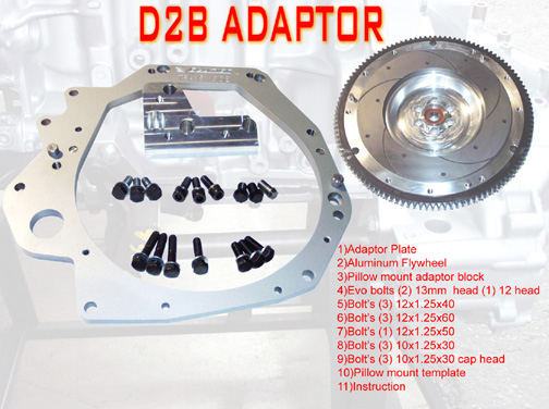 Evolution D2B Adapter Kit