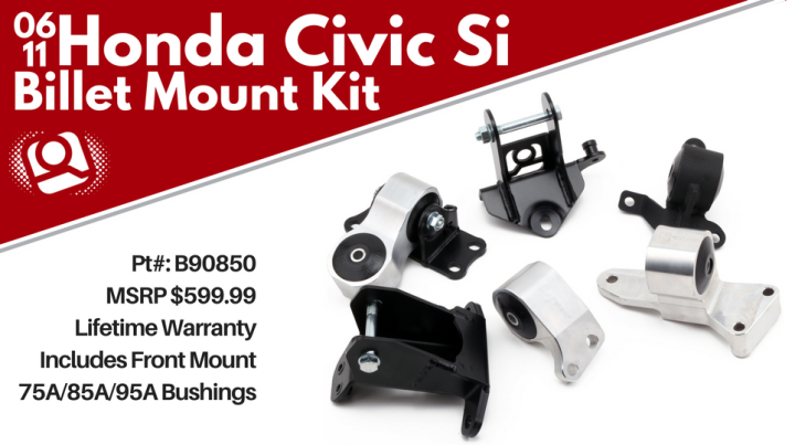 INNOVATIVE Replacement Motor Mount for 02-11 Civic Si//02-06 RSX//Type S 90650-85A