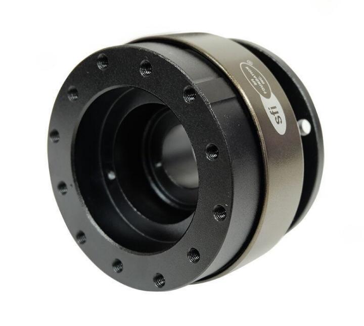 NRG Gen 2.0 Steering Wheel Quick Release Hub Black Body /& Chrome Gold Ring