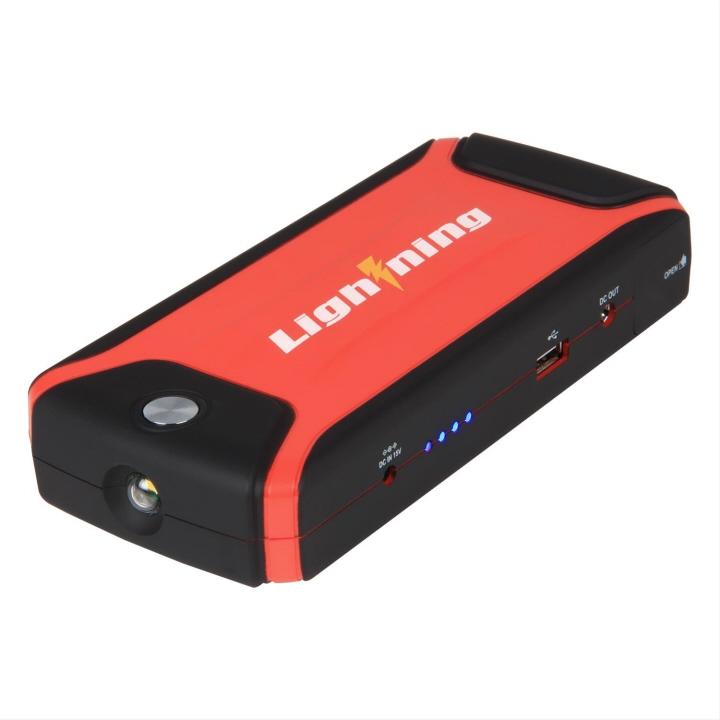 Portable Power Source Car Jump Starter Bulit In Power ... |Power Source Jump Starter Lightning
