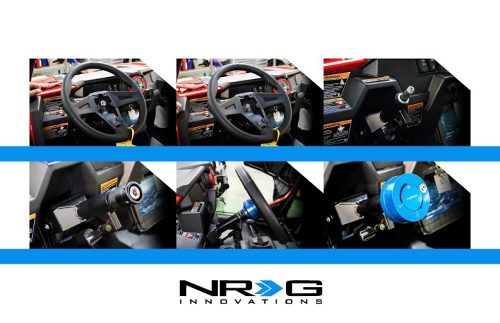 Nrg Srk Rzrh Short Spline Hub Adapter For Polaris Rzr Black