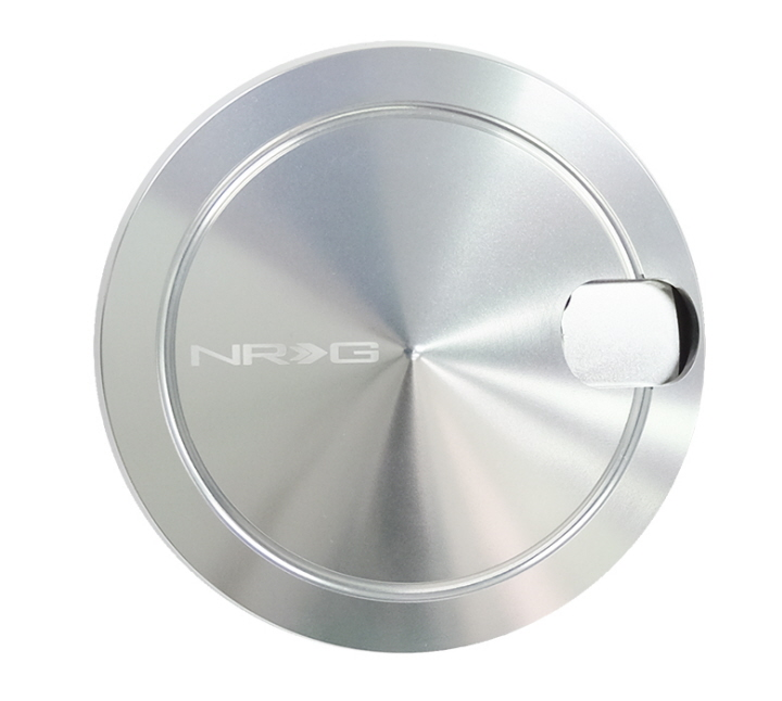 UNIVERSAL NRG DURABLE POWDERCOATED ALUMINUM RADIATOR CAP COVER DECORATION SILVER