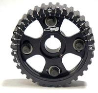 AEM Tru-Time Adj Cam Gear for Honda H22-Series Motor BLACK 5-Bolt 23-801BK